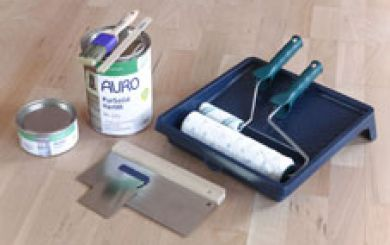 Oling and waxing of wooden floors - step 2