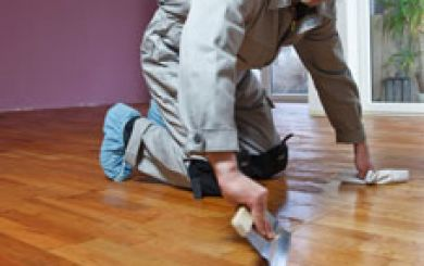 Oling and waxing of wooden floors - step 9