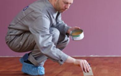 Oling and waxing of wooden floors - step 14